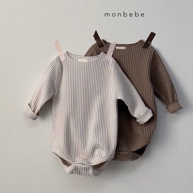 (即納) gift suit : B  (ロンパース/ブラウンセット) Monbebe : FMBSX0010711_121