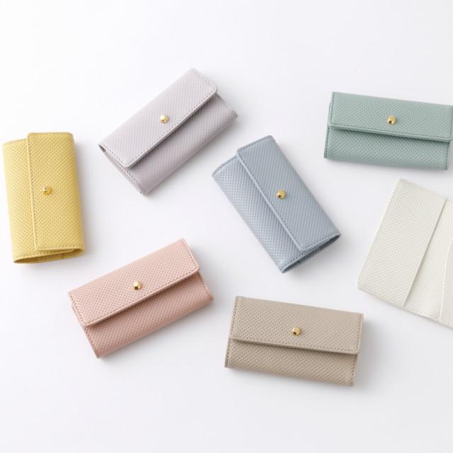 belllabell 大人の女性に似合うレザーキーケース。 シンプルデザインですっきりした作り、パステルカラーの綺麗な発色の日本の革を素材に、日本の職人によって一つ一つ丁寧に作られたキーケース。本革 パステルカラー レザー レディース キーケース レディース  日本製(r-key1)