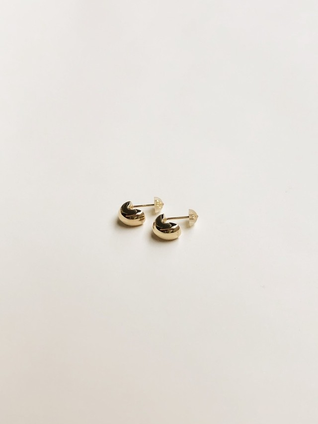 <受注生産>tiny skin pierce fine jewelry gold K14