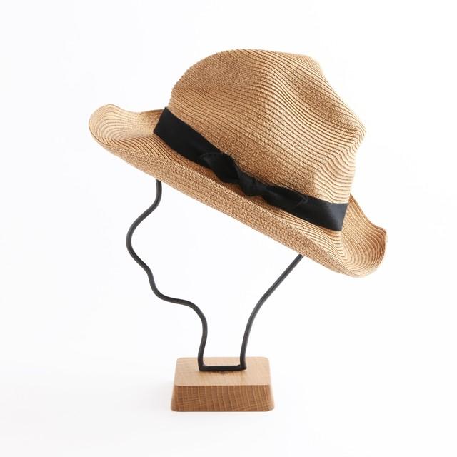 mature ha./BOXED HAT106 mixbrown×black
