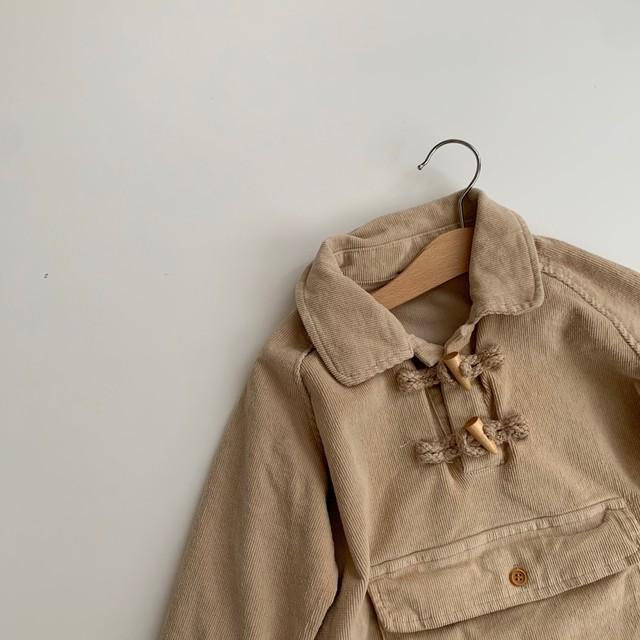 614. corduroy tops / beige