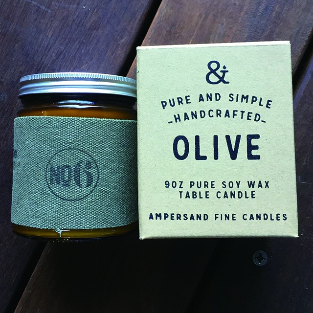9oz Amber Jar Candle -OLIVE- キャンドル Candles - メイン画像