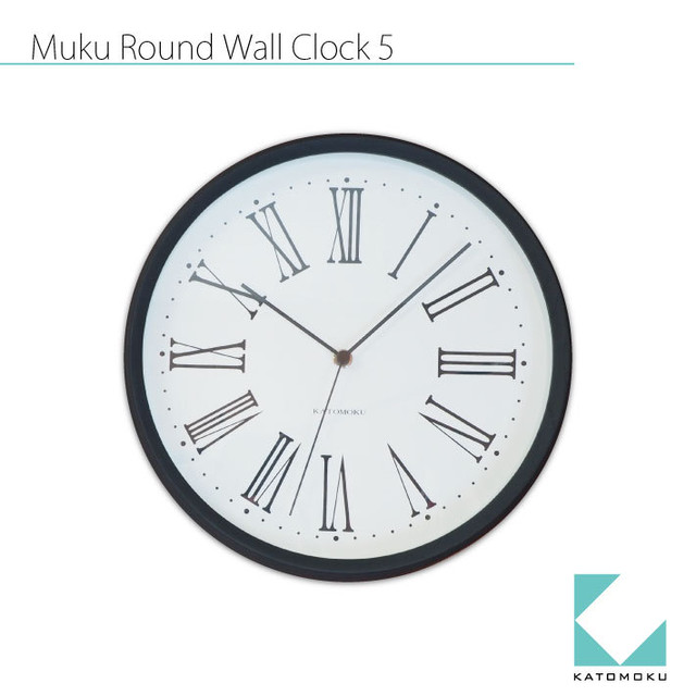 KATOMOKU plywood wall clock km-34LRC 電波時計