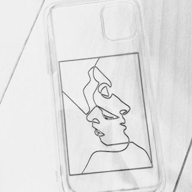 透明な iphone ケース(デザインシンプル)