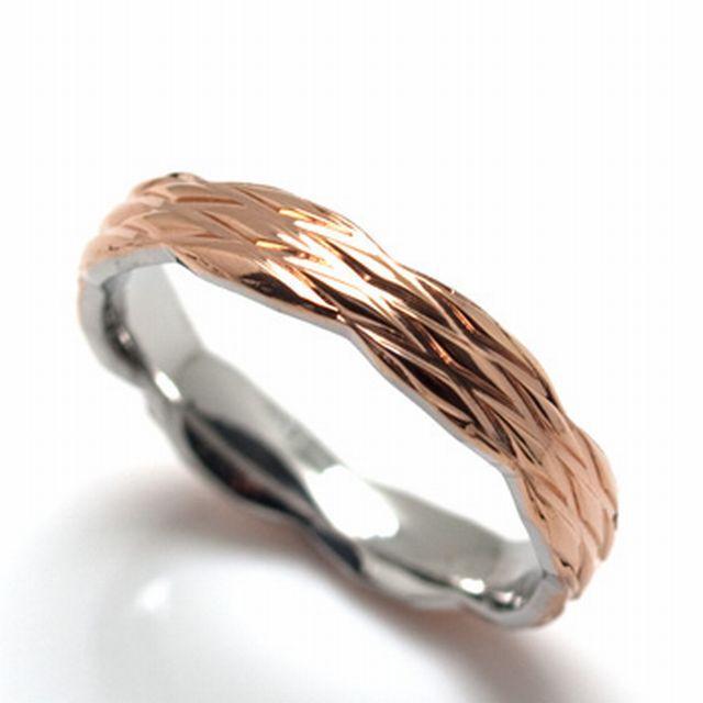 ステンレスリング 指輪 カラー×チェック柄 メンズ レディース 7号 9号 11号 13号 ステンレス 金属アレルギー対応 (RST018pk)