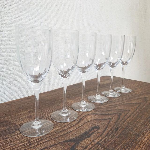 スウェーデン Orrefors/オレフォス ワイングラス 6Pset ビンテージ