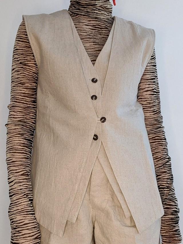 L&C Layered Vest - L/Beige