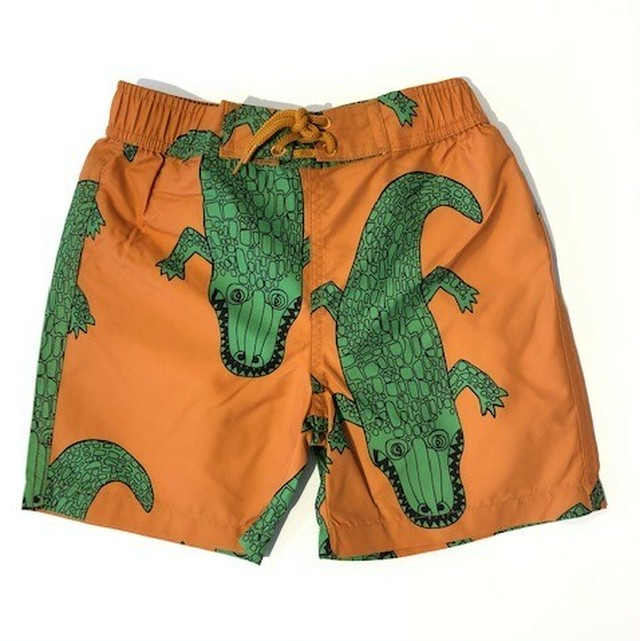 ミニロディーニ(minirodini) - Crocco SWIMSHORTS 【brown】[80/86・92/98・104/110・116/122]