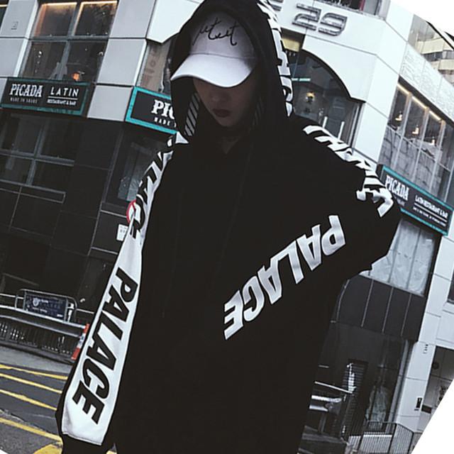 【トップス】ストリート系長袖アルファベットプリントフード付きパーカー/ジャージ25970541