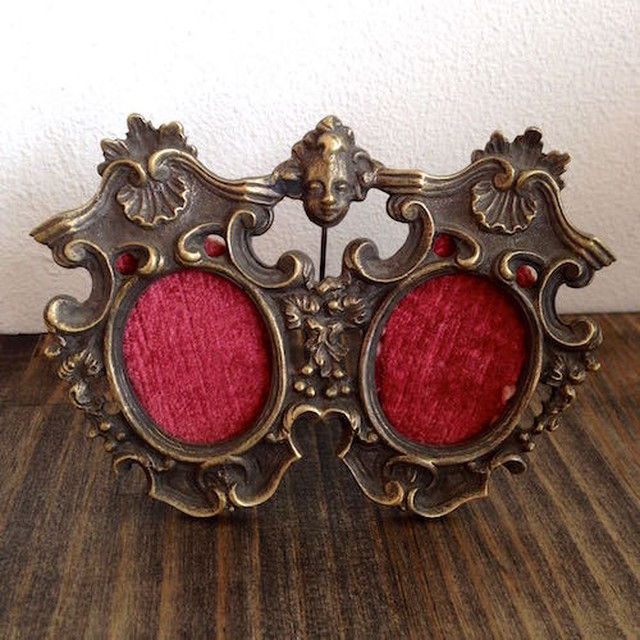 Antique Double Photo Frame