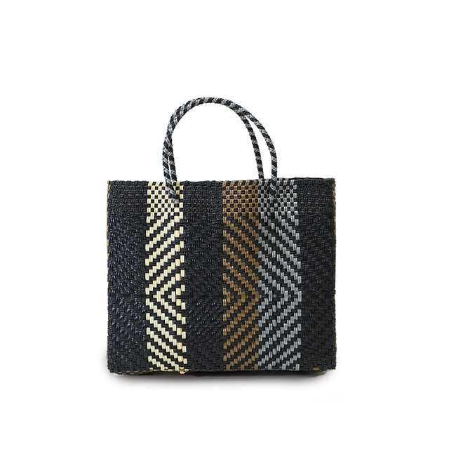 MERCADO BAG OPTICAL  -  Black x Gold x Silver x Cream(XS)