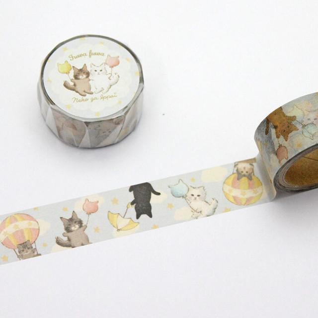 【とことこサーカス】マスキングテープ「ネコがいっぱい-CIRCUS-」【ST-MT-009】