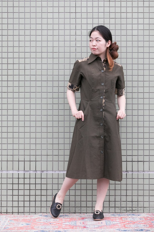 【Jabberwocky】1970's Safari dress (D481)