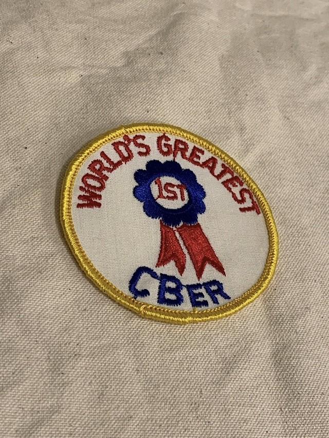 "PATCH "" WORLD'S GREATEST CBER """