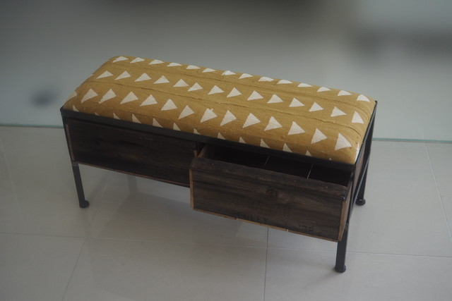 品番UAY2-107  2drawer ottoman[narrow/African yellow]
