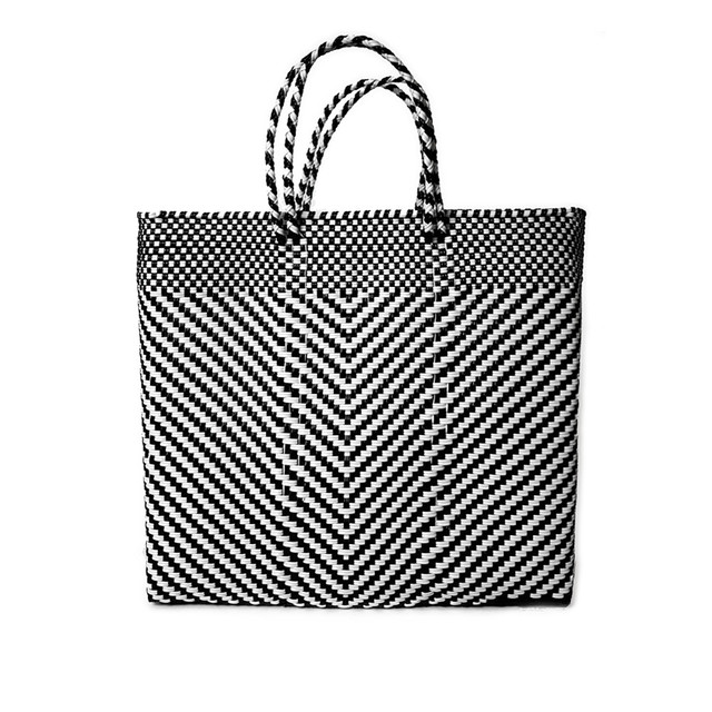 MERCADO BAG ESPIGA - Black x White(M)