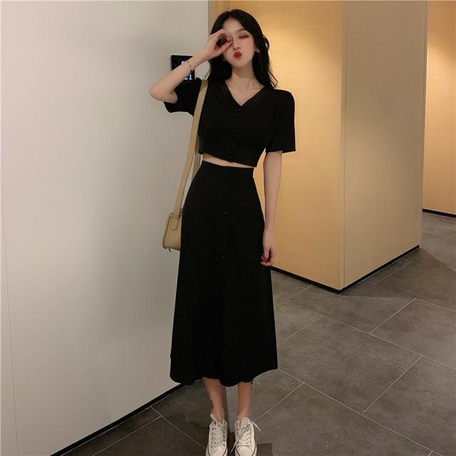 韓国ファッション セットアップ トップス スカート SHT312401