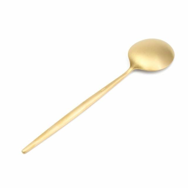 ※12本入 クチポール(Cutipol) MOON MATT/ムーンマット ゴールド デザートスプーン 20%off