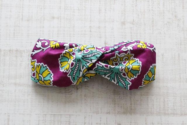 カンガのヘアターバン 幅広ボリューム / アフリカ布ターバン