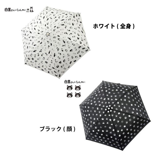 猫傘(白黒さんいらっしゃい折りたたみ傘)全2種類