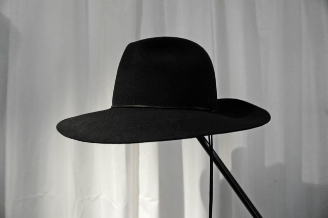 ASKYY / LONG BRIM HAT / BLK