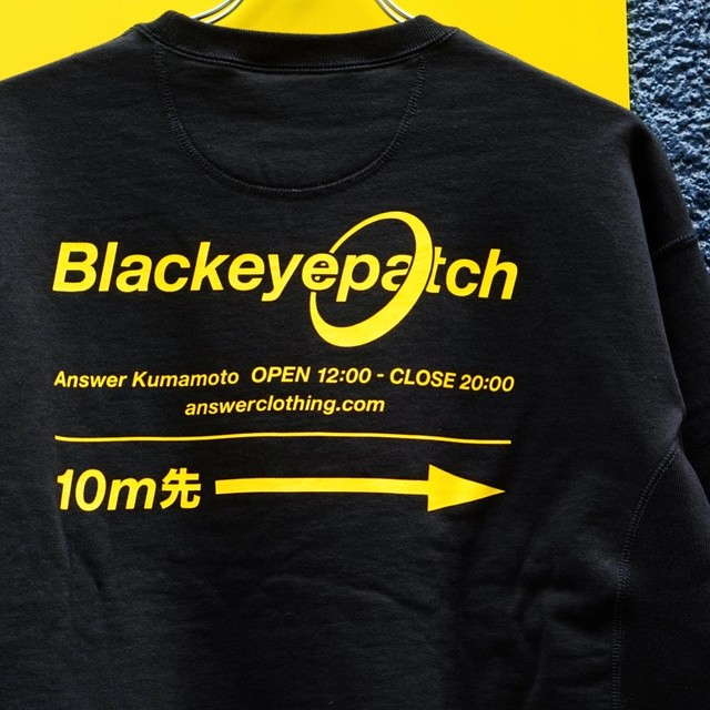 BLACK EYE PATCH × ANSWER / 2nd Anniversary Limited Crew Sweat