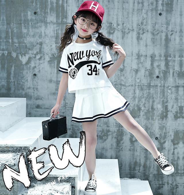 即日発送 韓国子供服 女の子 New York セットアップ