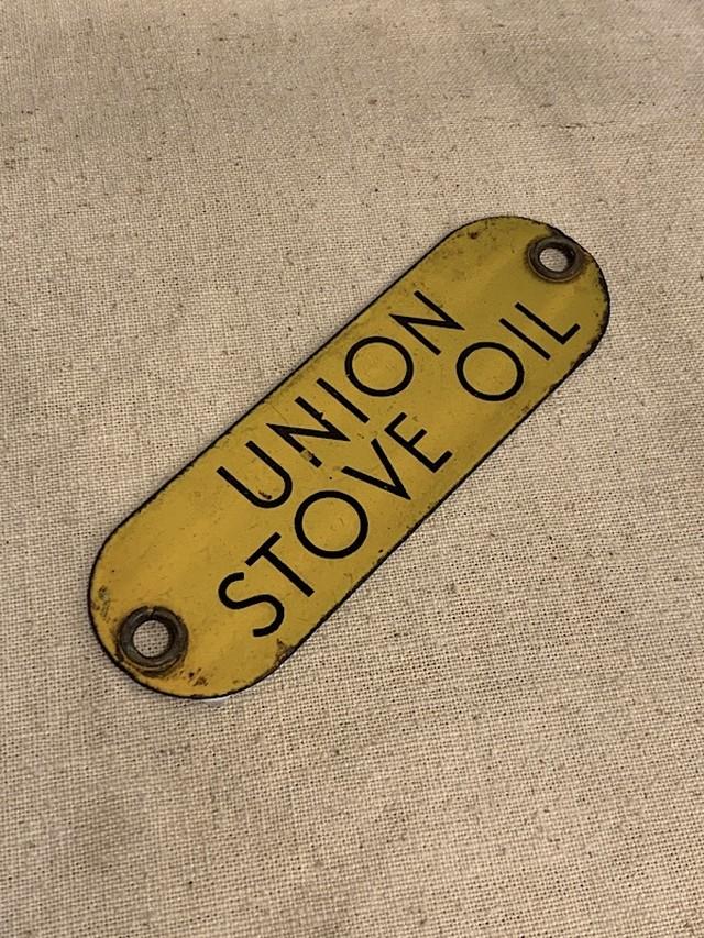 "METAL PLATE "" UNION STOVE OIL """