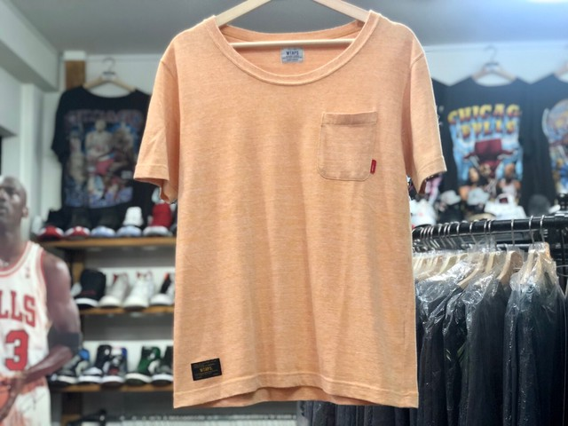WTAPS 14SS BLANK SS TEE ORANGE SMALL 5JF6563