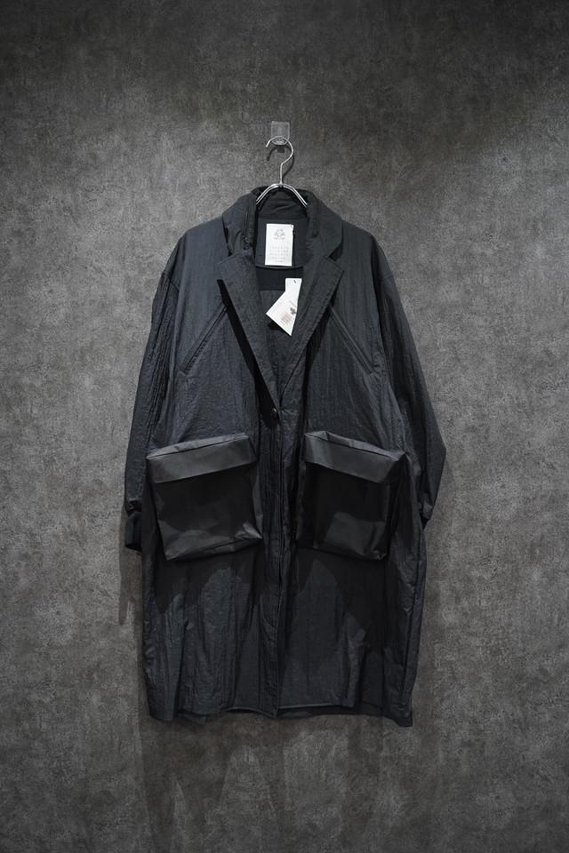 stof Rain wont Pocket coat  Black