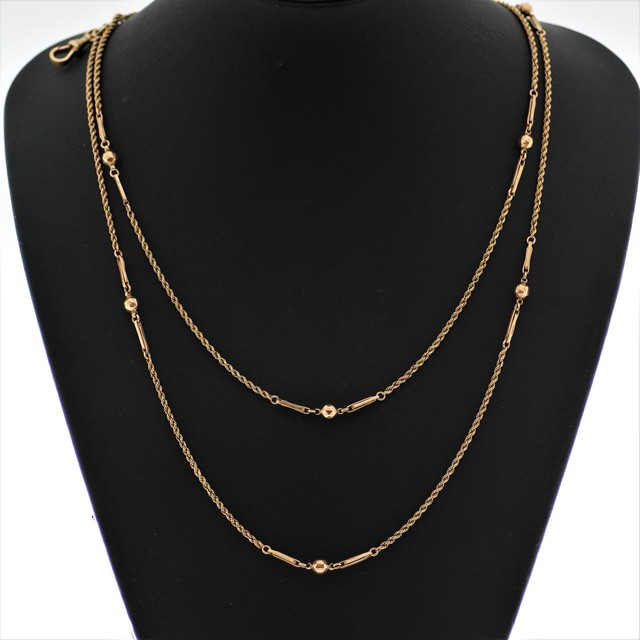 9K Gold Long Nacklace 9金 ゴールド ロングネックレス