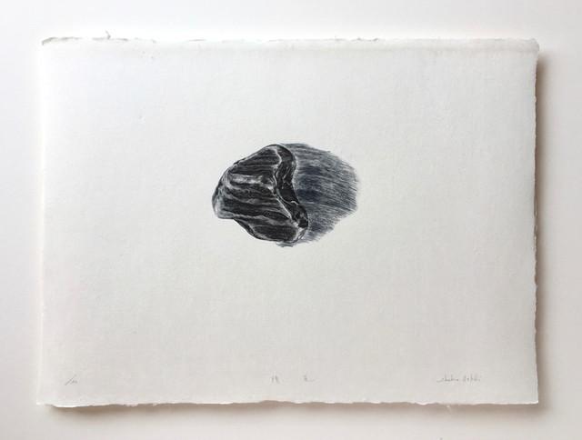 """戸次祥子""""隕星 insei"""" (木口木版) BEKKI Shoko/woodcut print"""