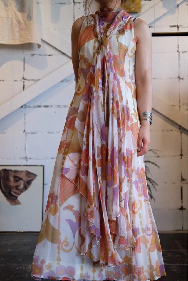70s Pat Sandler chiffon dress