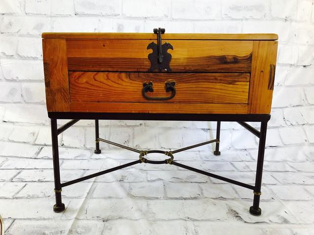 品番0952 サイドテーブル 中 メキシコ製 家具 アンティーク