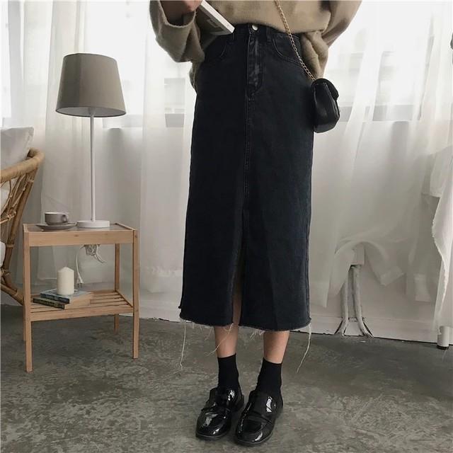 スタイルアップデニムスカート