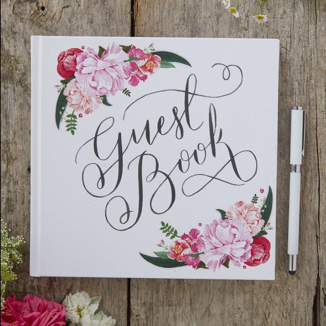 Botanicalゲストブック/ウェディング小物/パーティーグッズ