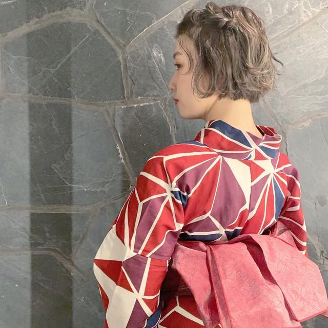 浴衣の着付け+ヘアセット前売りチケット(ギフト可)}