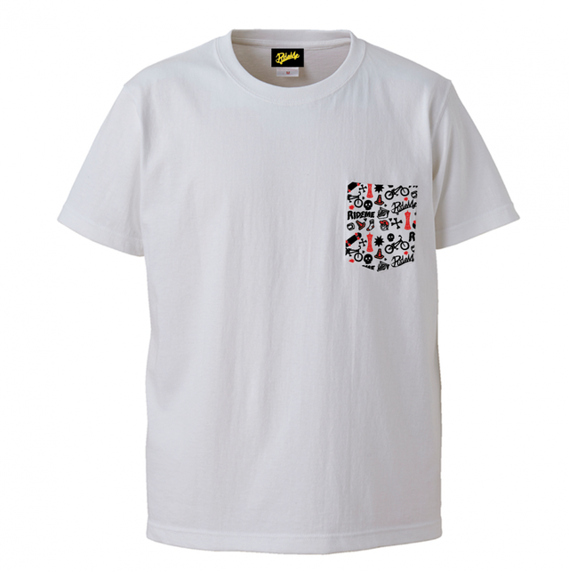 【RideMe | ライドミー】 Big Silhouette Pocket TEE(WHITE)