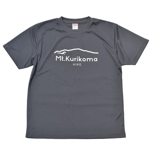 """Mt.Kurikoma """"HIKE"""" 4.1oz ドライTシャツ(ガンメタル)"""