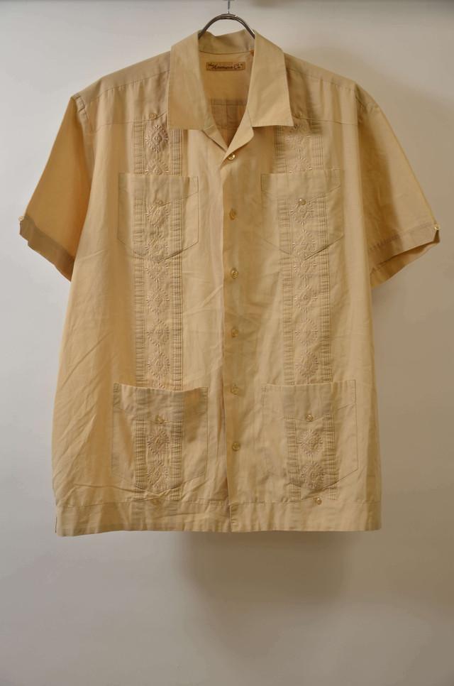 【Lサイズ】 THE HAVANERA CA CUBA SHIRTS 開襟シャツ BEIGE 400602190751