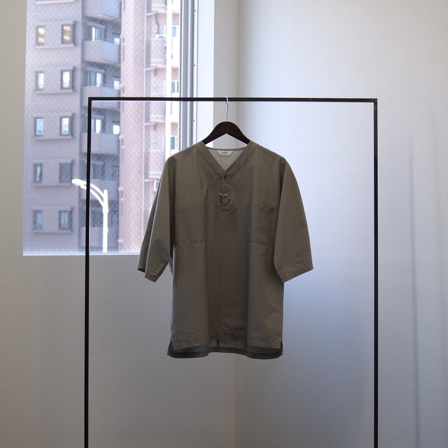 FUJITO / Henly Neck Shirt[GRAY]
