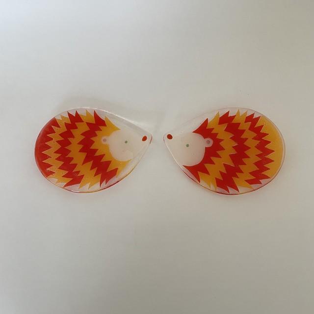 土井朋子   ハリネズミ皿
