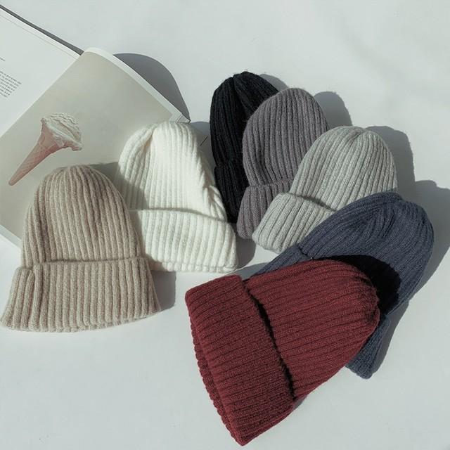 【送料無料】どんな髪型にも似合うニット帽♡帽子 オシャレ デート 学生 双子コーデ ストリート カジュアル