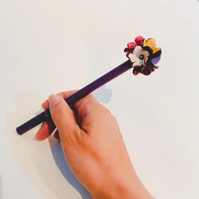 【オンラインショップ限定価格】No.215お花ボールペン(花色マルチカラー)