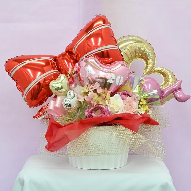 【リボン】ピンク×ハート キュート アレンジ