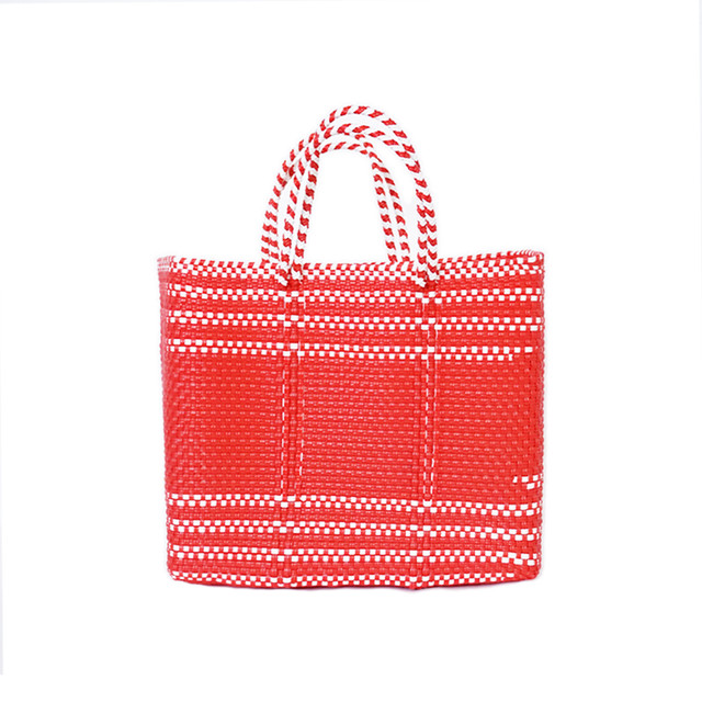 MERCADO BAG BORDER-RED (S)