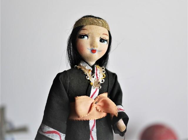 ポーズ人形 民族衣装人形 フォークロア アイヌ 昭和レトロ