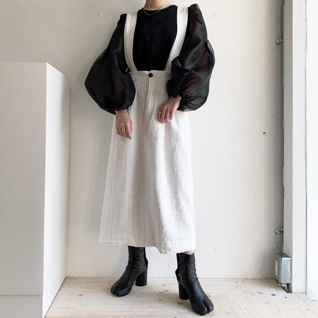vintage linen mix jumper skirt