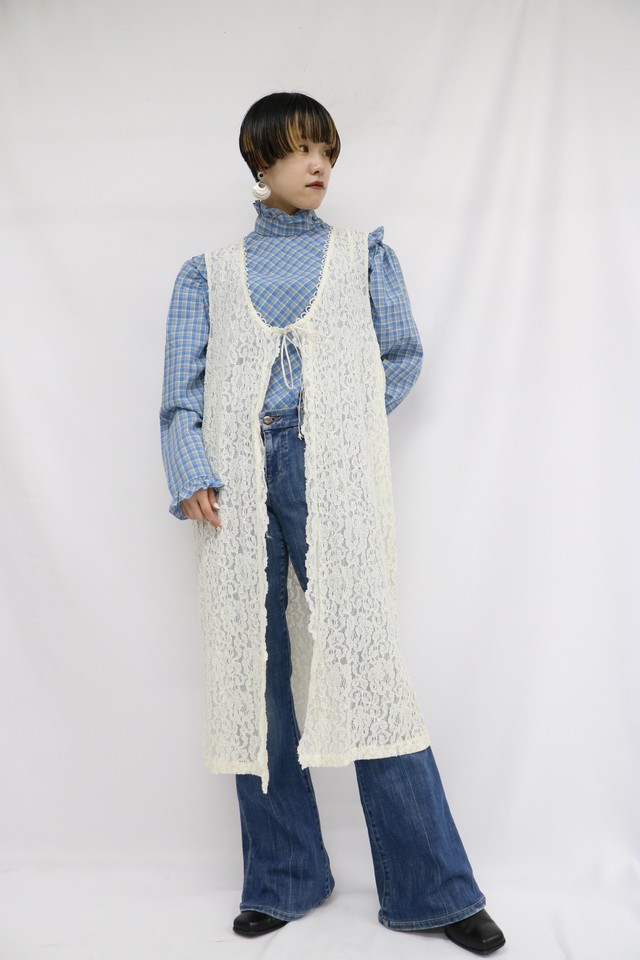 total lace long vest / 4SSTP20-04