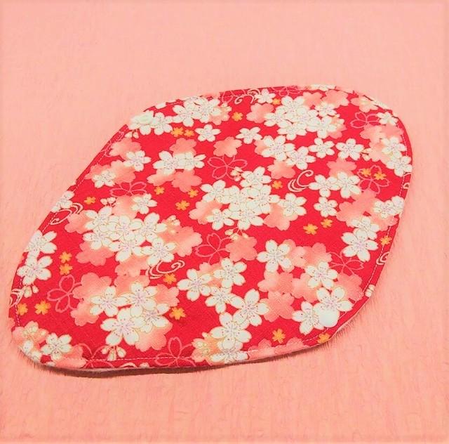 マリンフローリッシュオリジナル布ナプキン♡Mサイズ 桜 赤